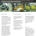 Closed Cell Foam Environmental Floats